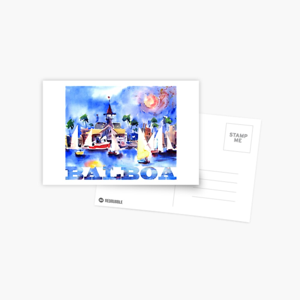 Balboa-Segel Postkarte