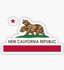 Klassische neue Kalifornien-Republik Sticker