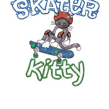 Skateboard Kitty by robertaccomando