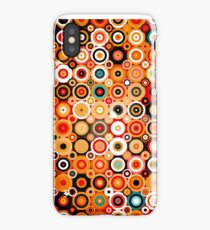 Disco style pattern with dots and circles iPhone Case/Skin