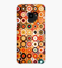 Disco style pattern with dots and circles Case/Skin for Samsung Galaxy