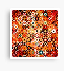 Disco style pattern with dots and circles Canvas Print
