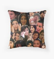 Kardashian's Crying Collage  Throw Pillow