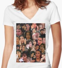 Kardashian's Crying Collage  Women's Fitted V-Neck T-Shirt