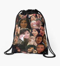 Kardashian's Crying Collage  Drawstring Bag