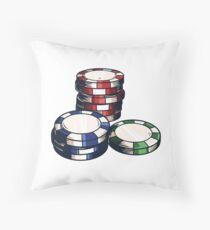 Poker Chips Cojín