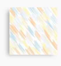 Dry pastel strokes Canvas Print