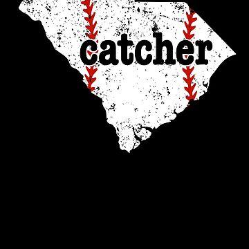 Fastpitch Softball Catcher Baseball Shirt South Carolina by shoppzee