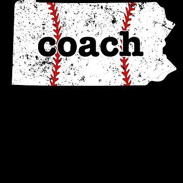 Pennsylvania Shirt Baseball Coach Shirt Softball Coach Shirt by shoppzee