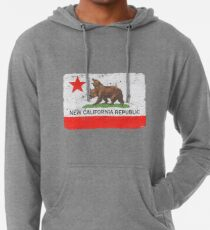 Distressed New California Republic Lightweight Hoodie
