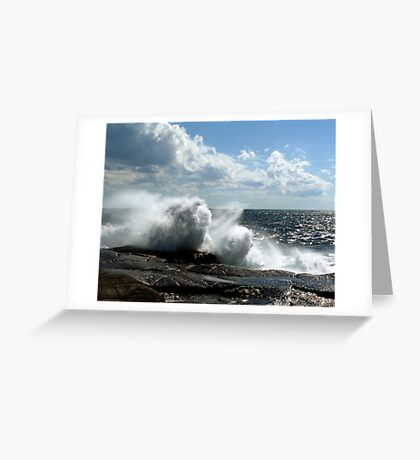 Ocean Burst Greeting Card
