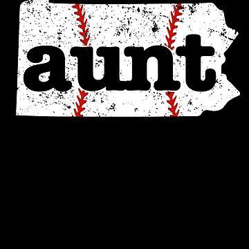 Aunt Baseball T Shirt Pennsylvania Fastpitch Softball by shoppzee