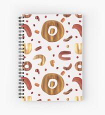 Metallic Beauty - White Spiral Notebook