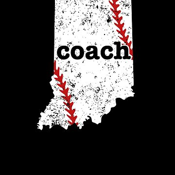 Indiana Shirt Baseball Coach Shirt Softball Coach Shirt by shoppzee