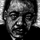 Martin Luther King in Black and White by ZenPop