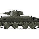Polish WWII era Light Tank 10tp (without roundel) by Escodrion