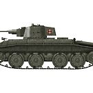 Polish WWII era Light Tank 10tp (with roundel) by Escodrion