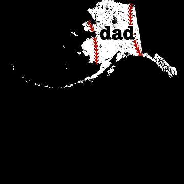 Best Dad Baseball Shirt Alaska Softball Dad Gift by shoppzee