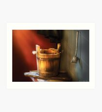 Water pail and ladle Art Print