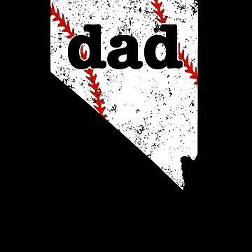 Softball Dad T Shirt Nevada Baseball Dad Shirt Gift by shoppzee