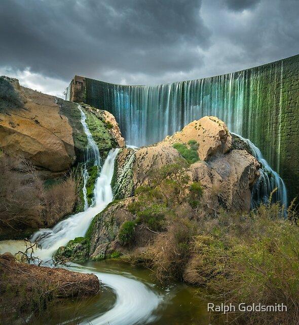 Elche Dam Cascade by Ralph Goldsmith