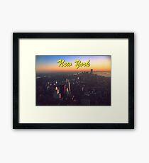 STUNNING! NEW YORK CITY RETRO 1970's Framed Print