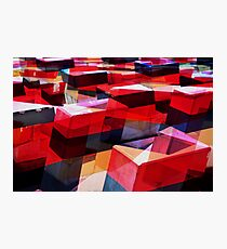 redblocks Photographic Print