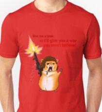 Hamster Rambo Text Unisex T-Shirt