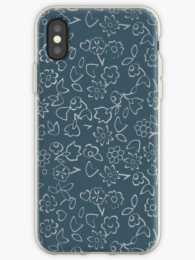 Simple Flowers Pattern XV by B & K     Store