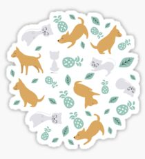 Cats and Dogs All pets around you Sticker