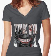 Tokyo Ghoul logo v6 Women's Fitted V-Neck T-Shirt