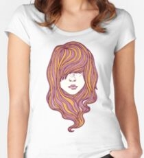 Her hair Women's Fitted Scoop T-Shirt