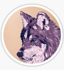 Blue eyed wolf Sticker