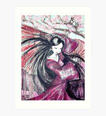 Fan Dance Art Print