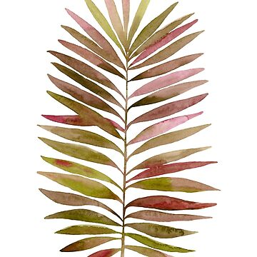Watercolor palm branch leaves by lex-sky