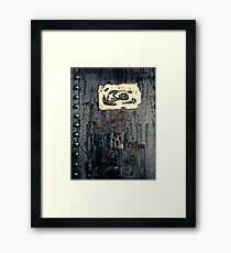 Rivets & Rust Framed Print