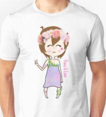 Flower Plur Girl Unisex T-Shirt