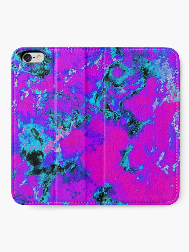 Vista alternativa de Fundas tarjetero para iPhone Papel pintado púrpura Trippy estético