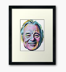 Bill Murray Laugh painting Framed Print