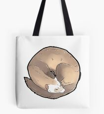 Curled Ferret - Champagne Tote Bag
