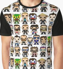 QWA Vinyl Pop-fighters Graphic T-Shirt