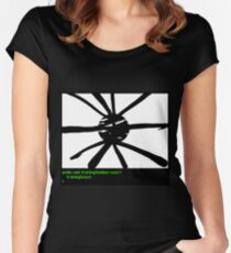 Wax on, Wax off! Women's Fitted Scoop T-Shirt