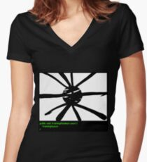 Wax on, Wax off! Women's Fitted V-Neck T-Shirt