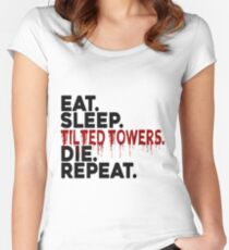 Eat Sleep Tilted Towers v2 Women's Fitted Scoop T-Shirt