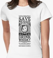 Save Nessie, Drink Whisky! Women's Fitted T-Shirt