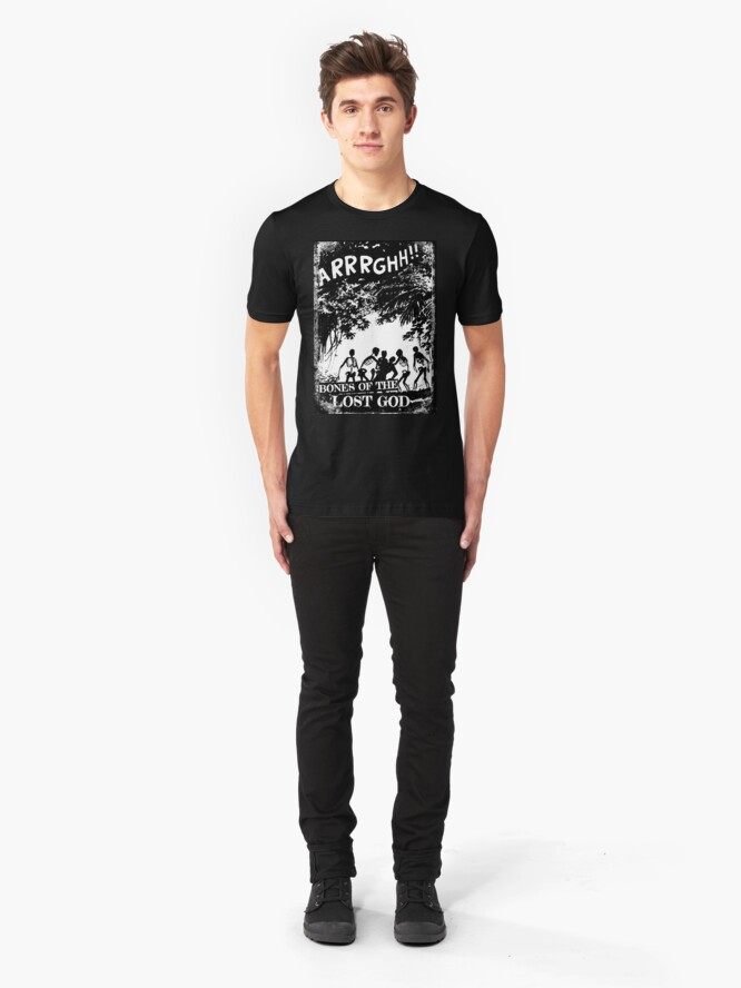 Alternate view of Arrrghh!! a BONES of the LOST GOD t-shirt Slim Fit T-Shirt