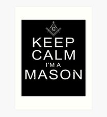 Im A Mason Shirt Masonic Lodge Shirt Freemason Shirt Art Print