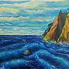 Oil Painting - Boat Chase, 1992 by Igor Pozdnyakov