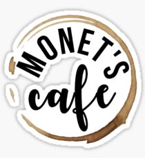 Monet's Cafe Sticker