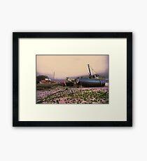 walney boat Framed Print